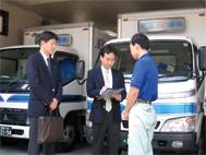 安全・安心な輸送のため事業者を訪問する巡回指導