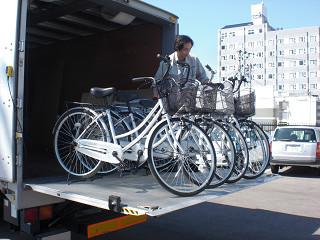 きれいに整備された「復興支援自転車」
